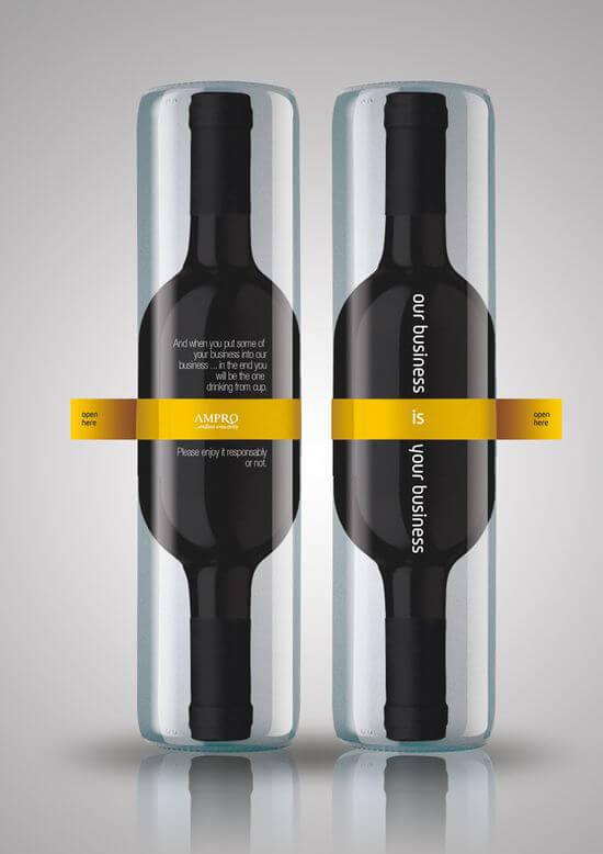 Botellas de vino creativas