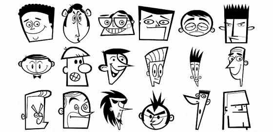 Caricaturas en vectores