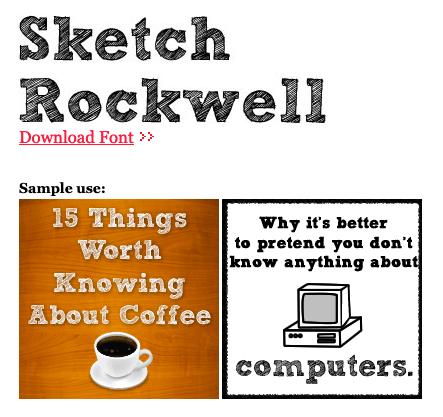 Tipografía para caricatura