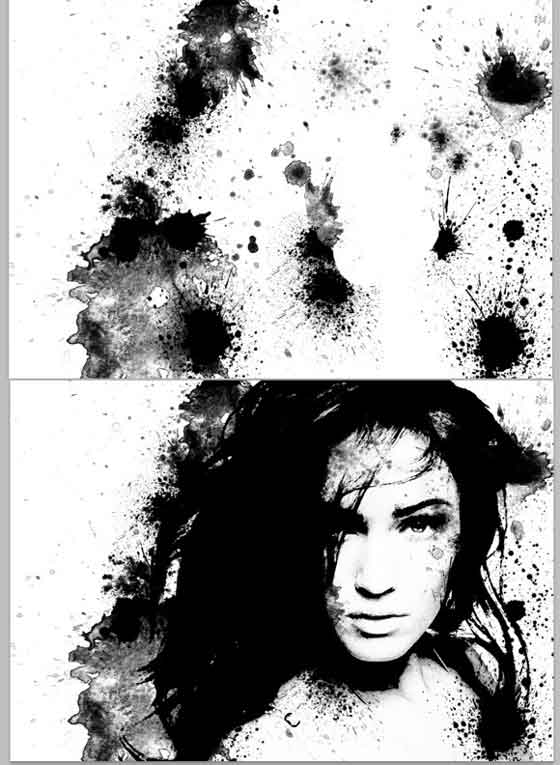 Manchas de tinta con Photoshop