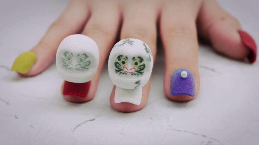 animación hecha en uñas