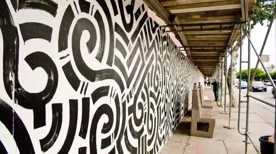 mural de Aaron de la Cruz
