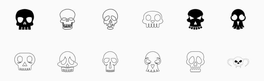 Cráneos vectorizados