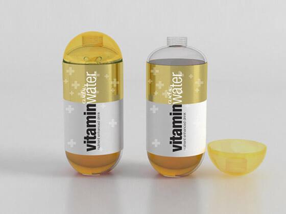 Botellas de agua con vitaminas