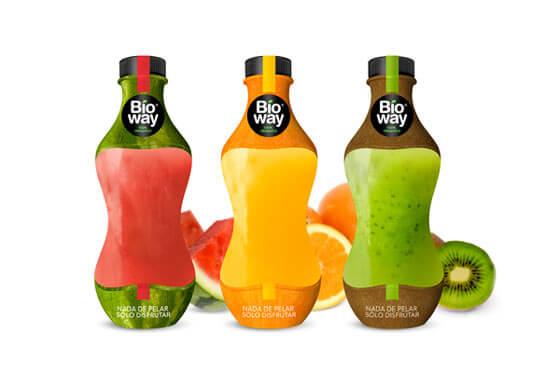 Botellas de plástico para jugo