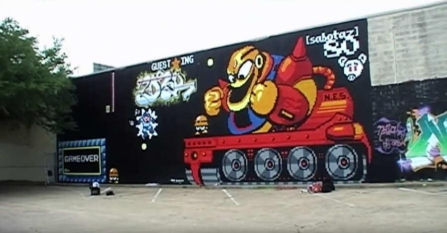graffiti pixeleado