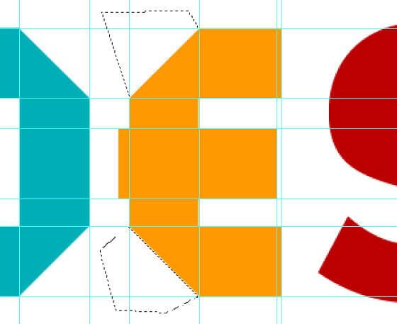 Letras de papel doblado hechas con Photoshop