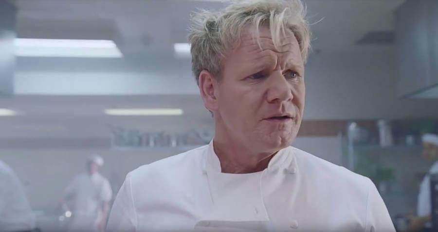 Gordon Ramsay en un comercial