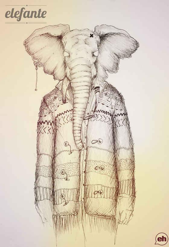 ilustraciones mitad hombre mitad animal