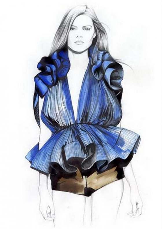 dibujos moda