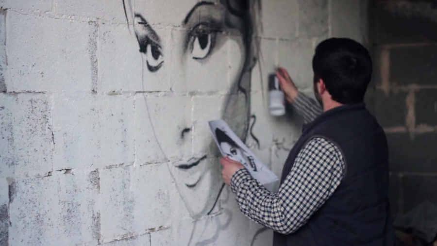 graffiti proyectado