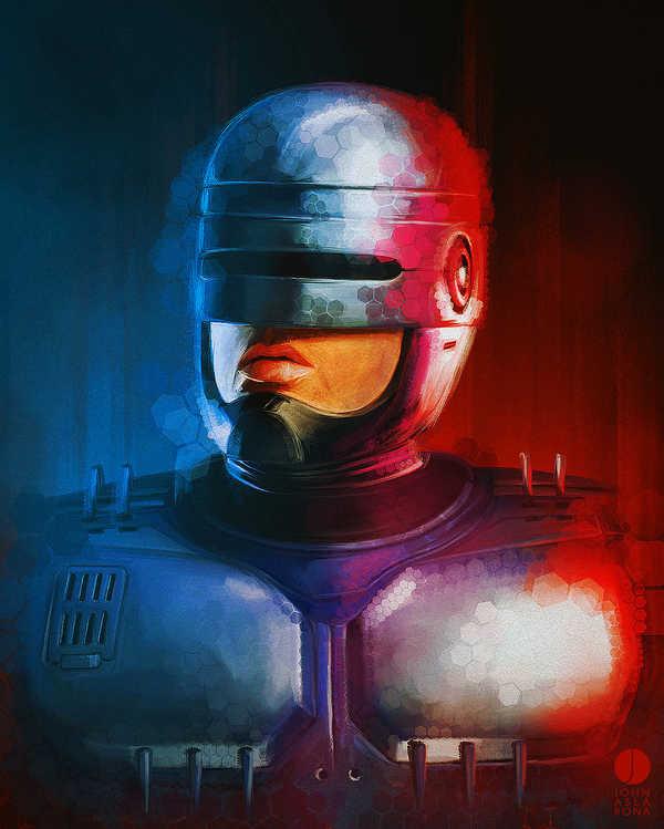 Imágenes de super héroes hechas con lápices de colores