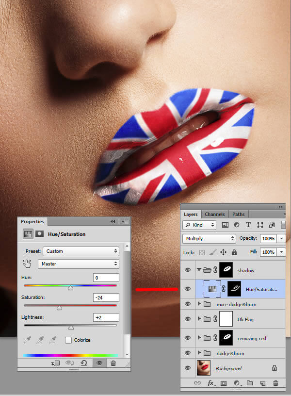 Pintar labios con Photoshop