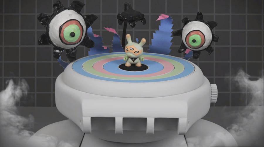 animación hecha con Dunnys y Relojes