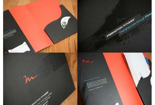 ejemplos folders con diseño creativos
