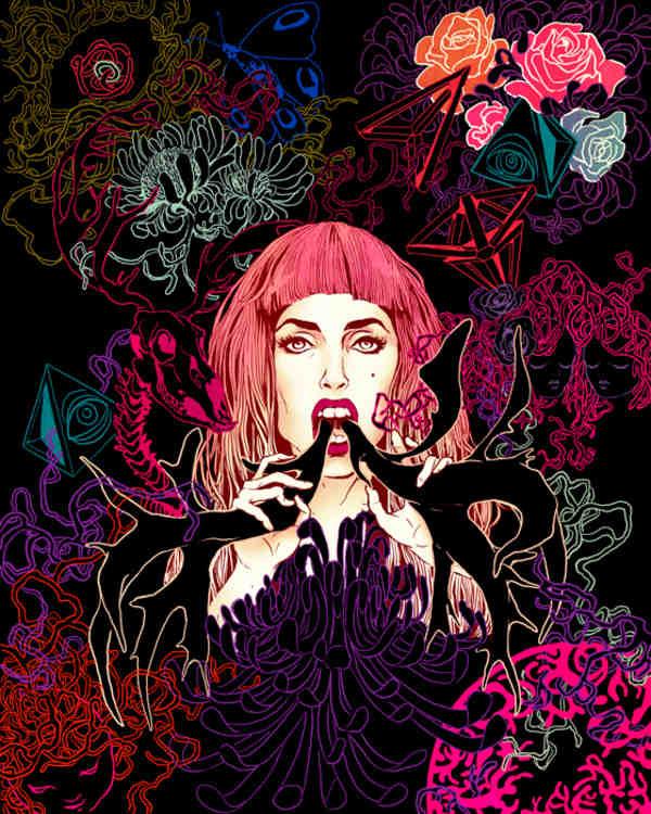 Ilustración de Lady Gaga