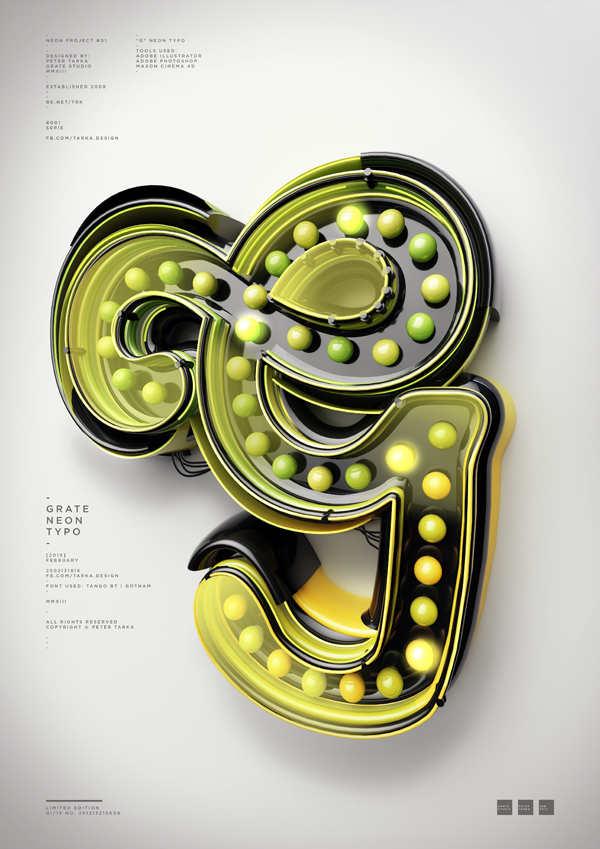Tipografía con efecto 3D