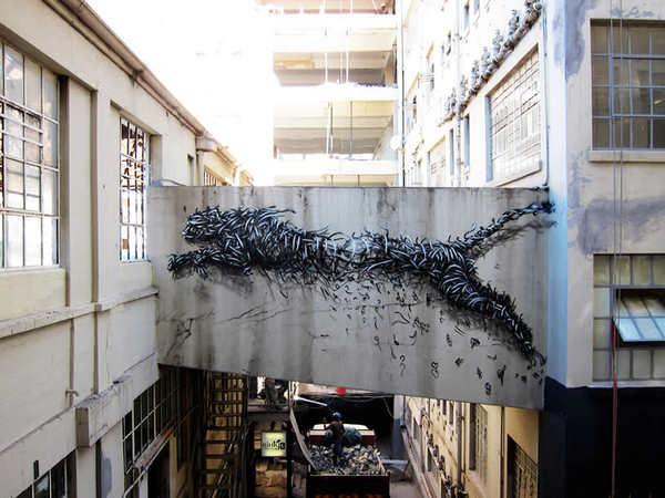 Dibujos de animales en graffiti