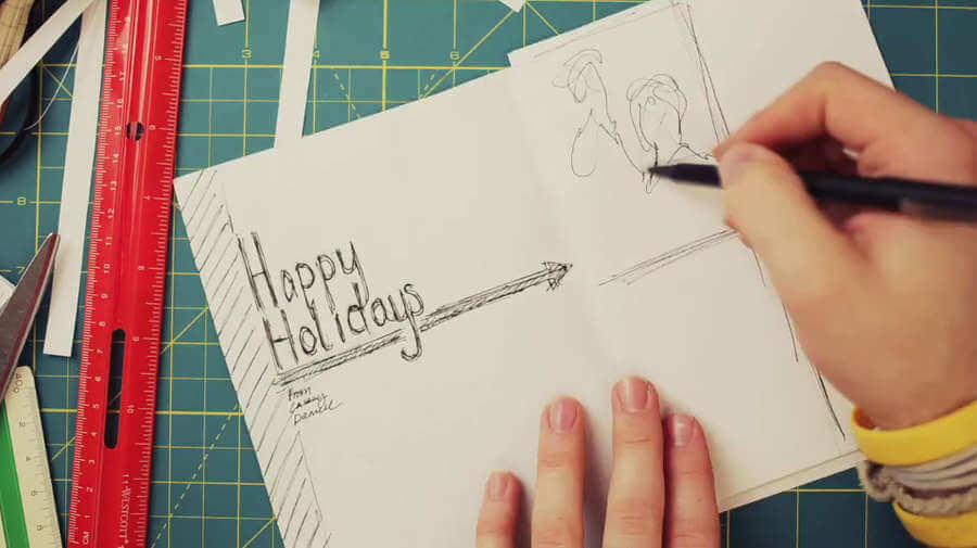creación de una tarjeta de navidad