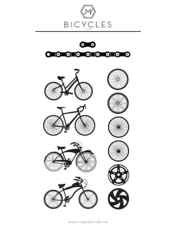 Bicicletas vectorizadas
