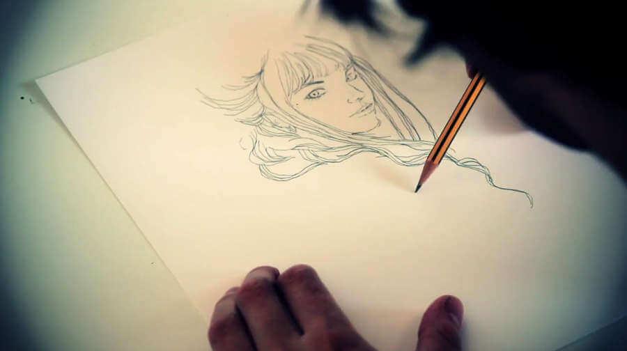 dibujo con lápiz