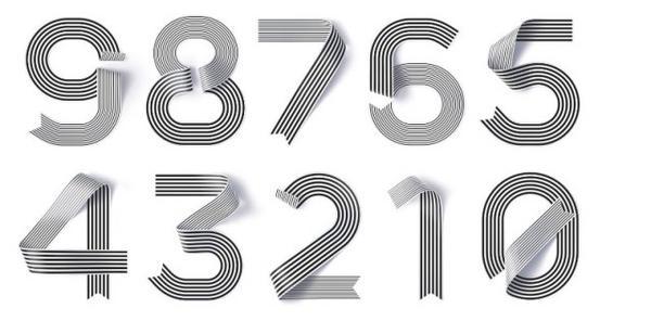 tipografía de listones