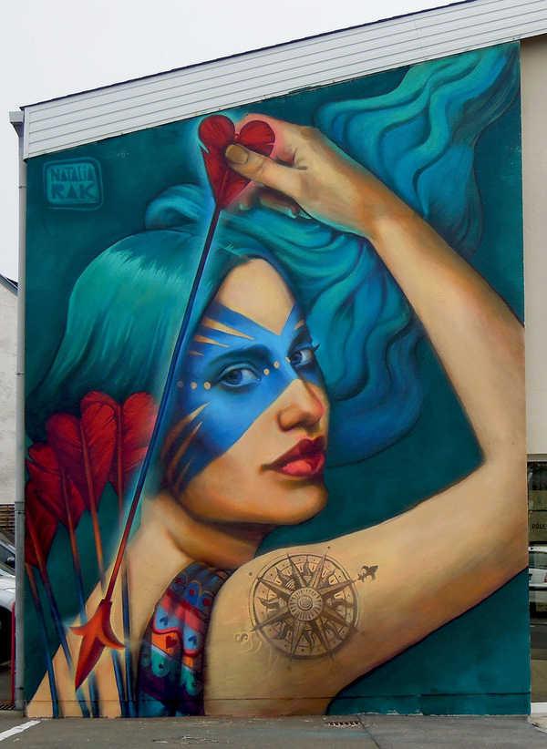 graffiti hechos por una mujer