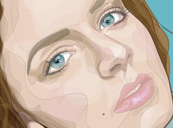 retrato vectorizado