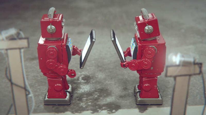 animación con robots