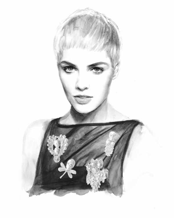 ilustraciones hechas con acuarela