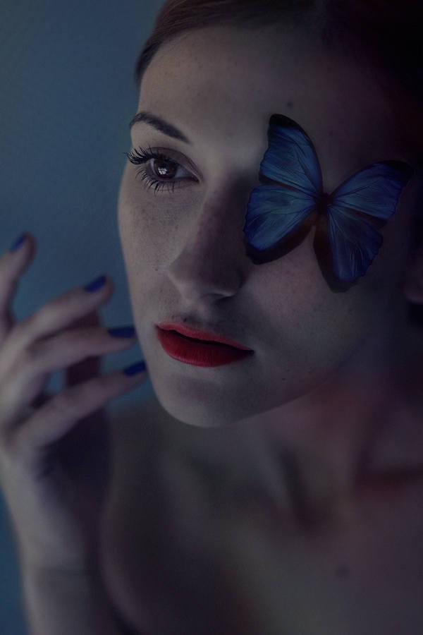 mariposa en ojo