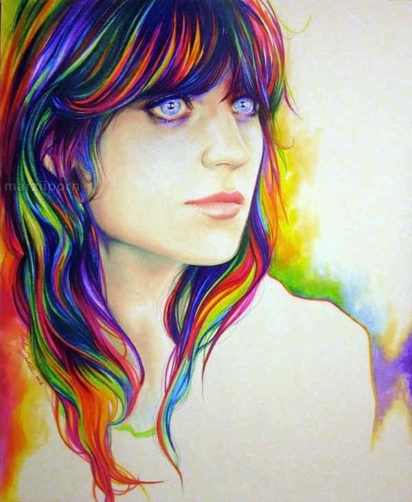 dibujos con mucho color