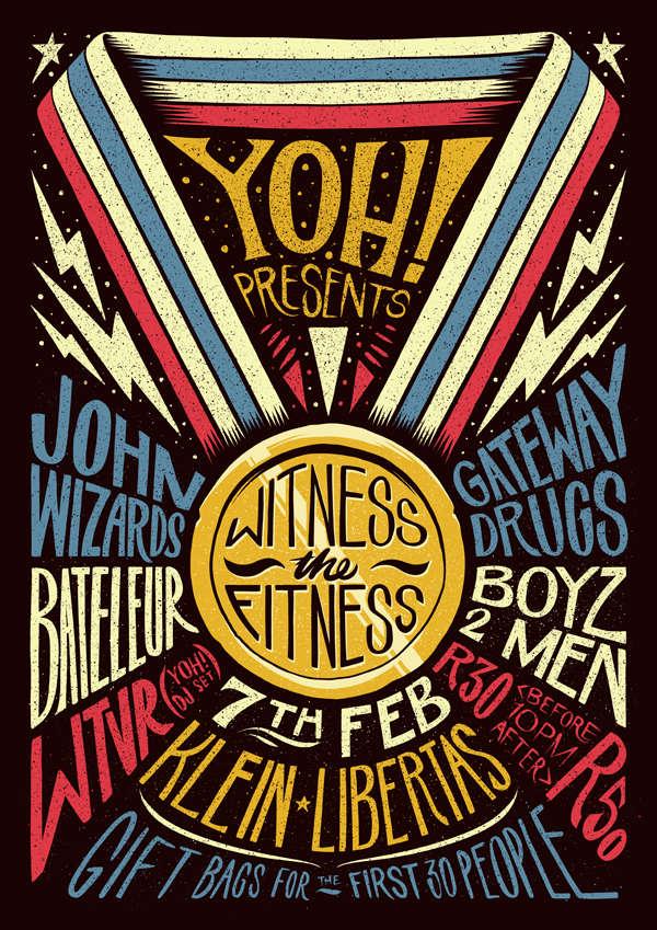 diseñar un poster para festival de música