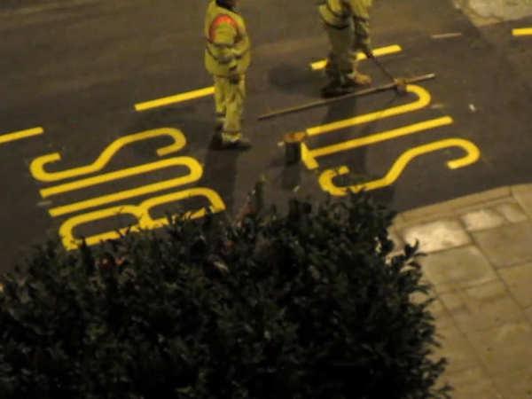 cómo se pintan las señales de tráfico