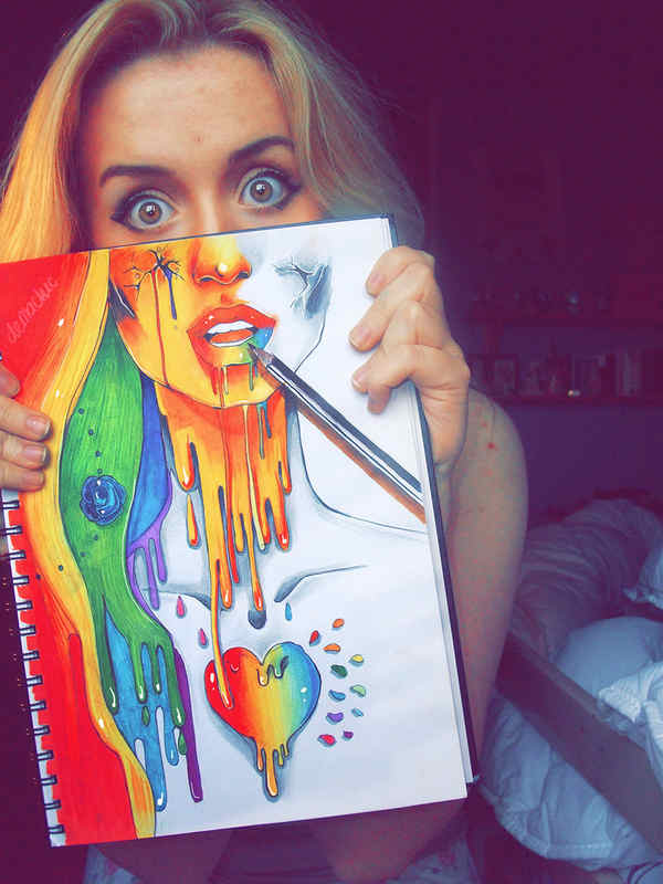 dibujos lápices de colores