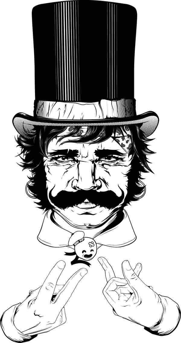 ilustración en blanco y negro