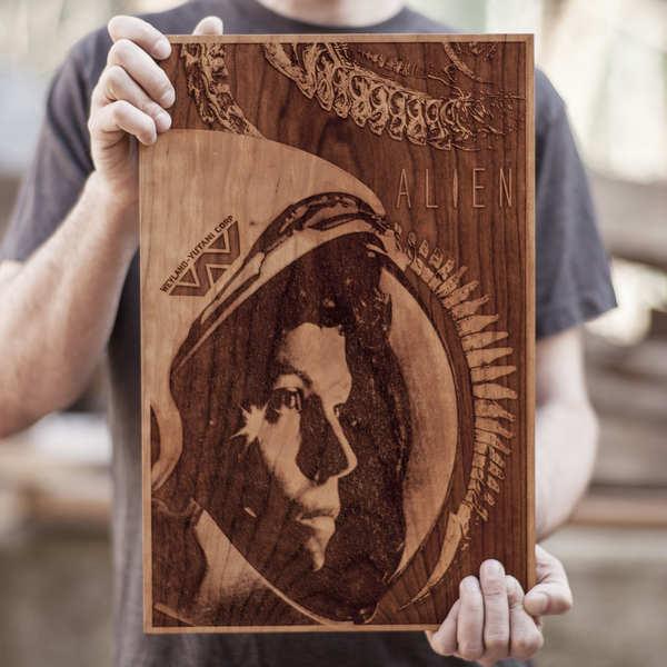 pósters de madera
