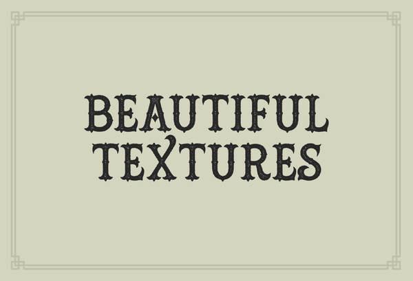 tipografía estilo retro