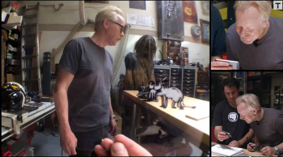 adam savage en su taller