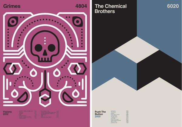 portadas de discos - Diseo Minimalista