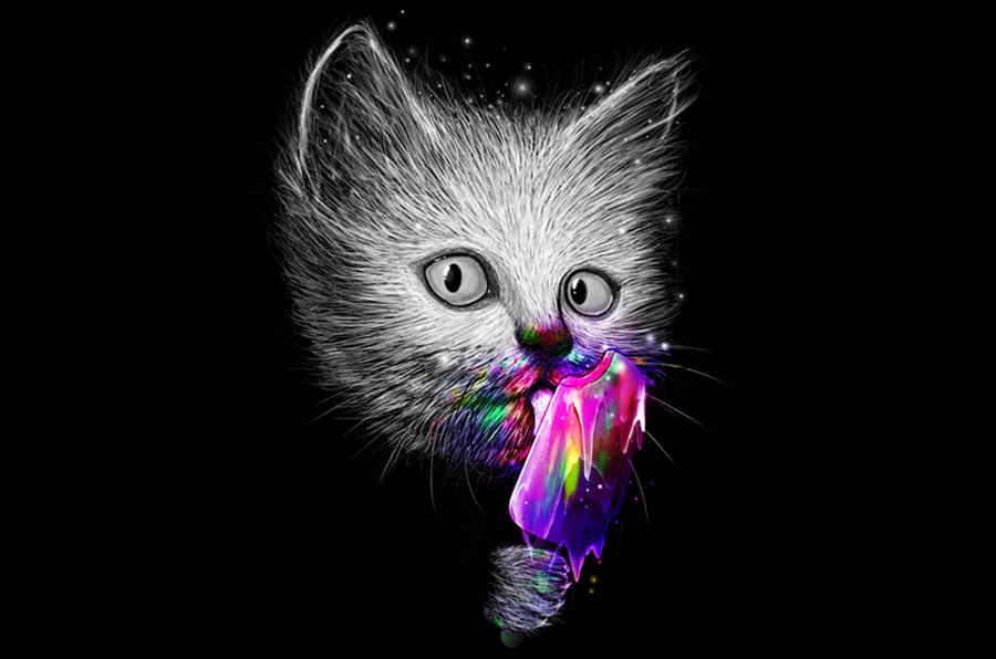 ilustración gatito