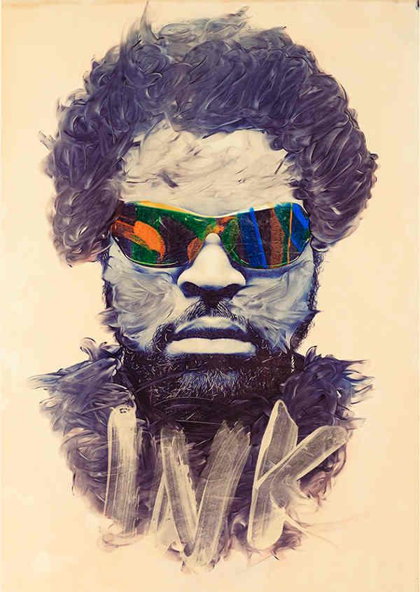 pinturas hechas con tinta de impresora