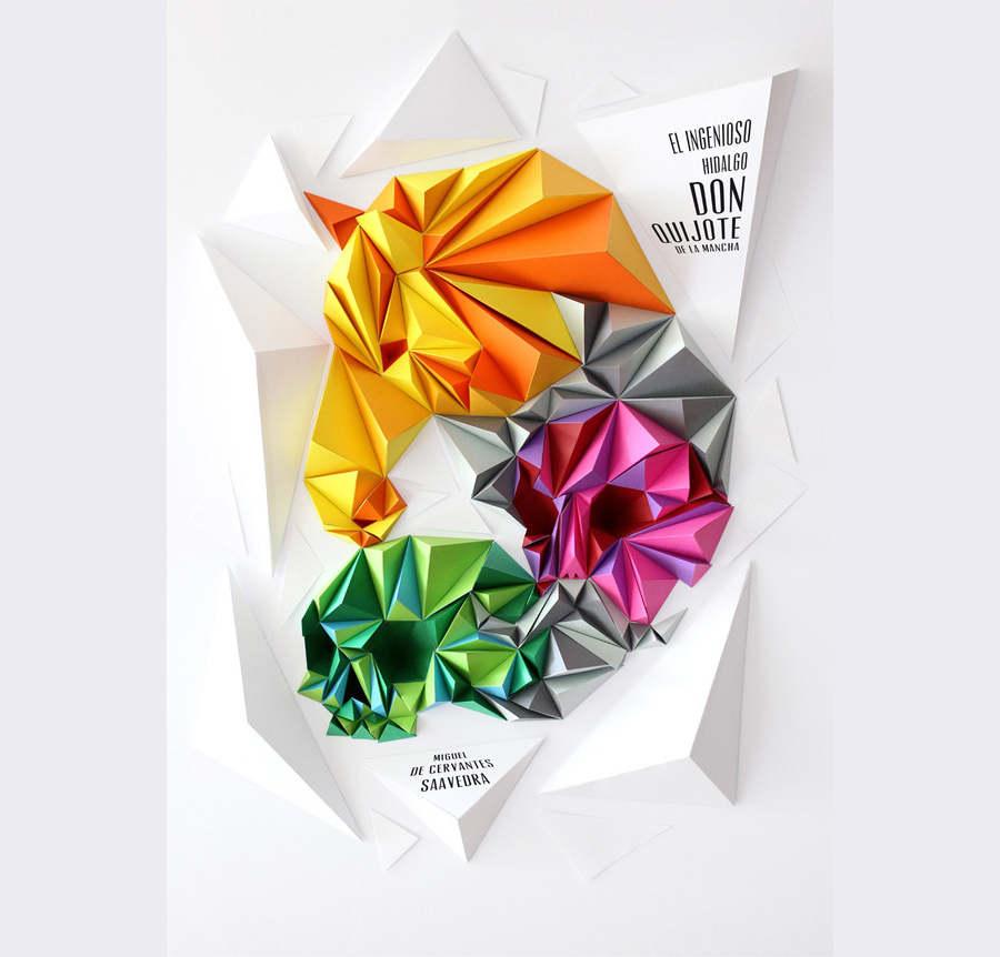 portada hecha con recortes de papel