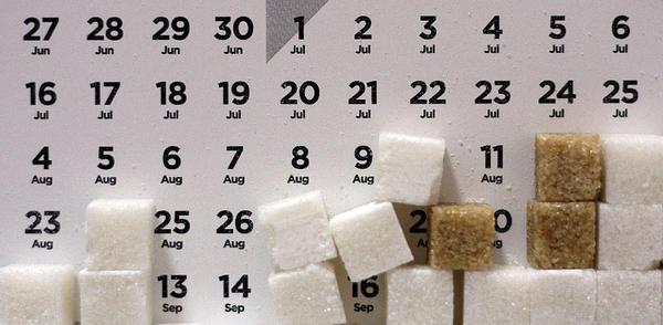 calendario de azúcar