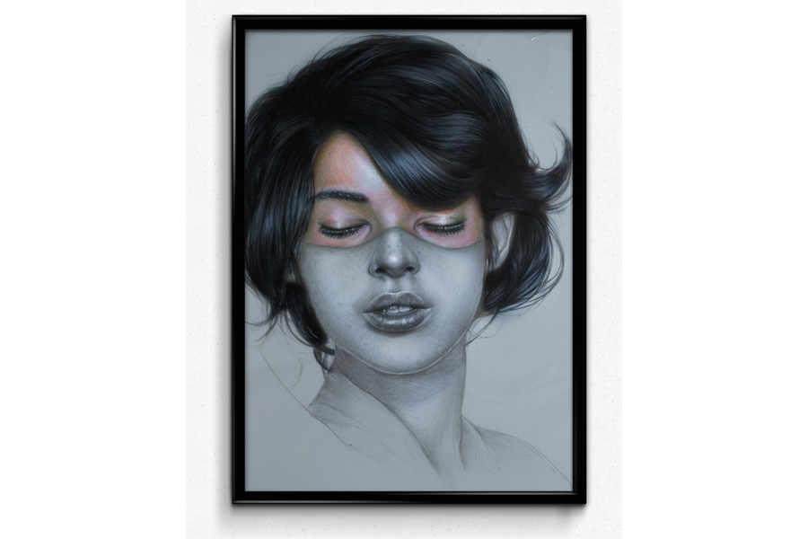 dibujo retrato de una mujer
