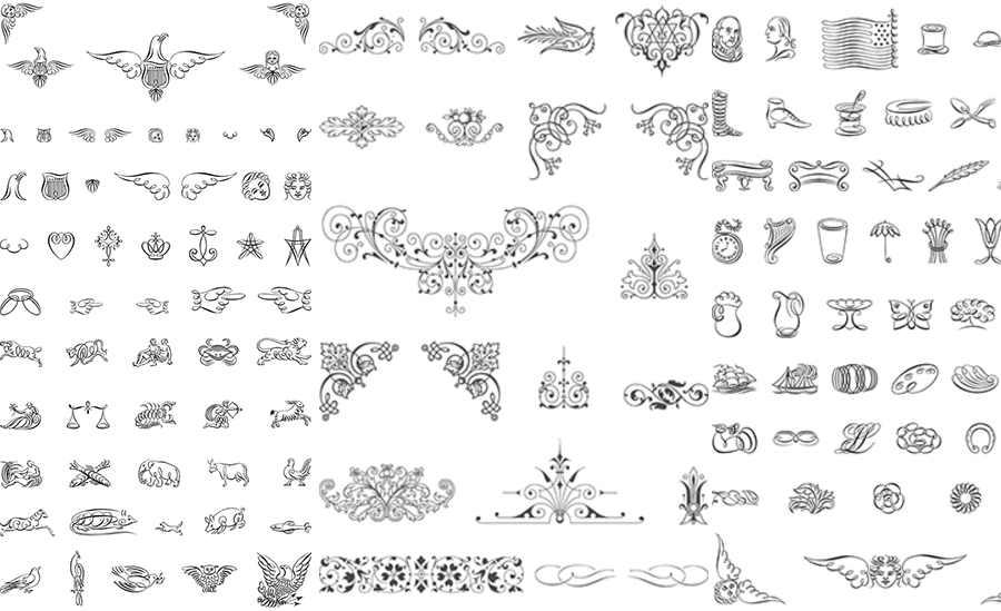 ornamentos en vectores
