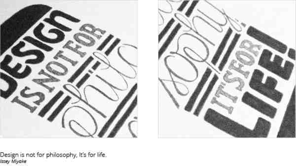 tipografía en boceto