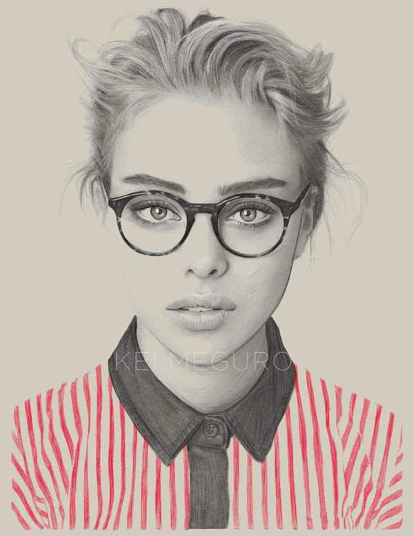 dibujo de mujer