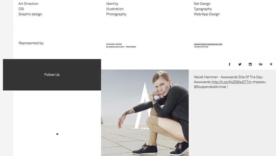 portafolios minimalistas