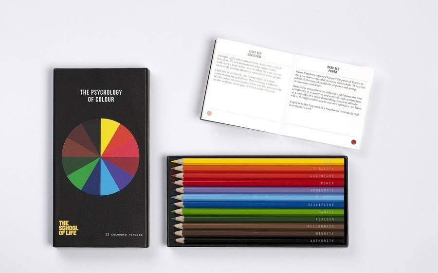 psicología del color en lápices de colores